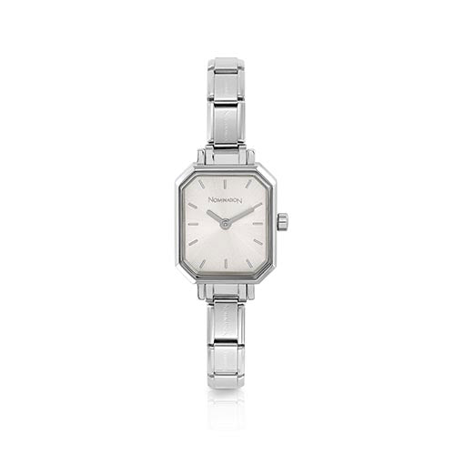 Nomination Silver Hexagonal Watch