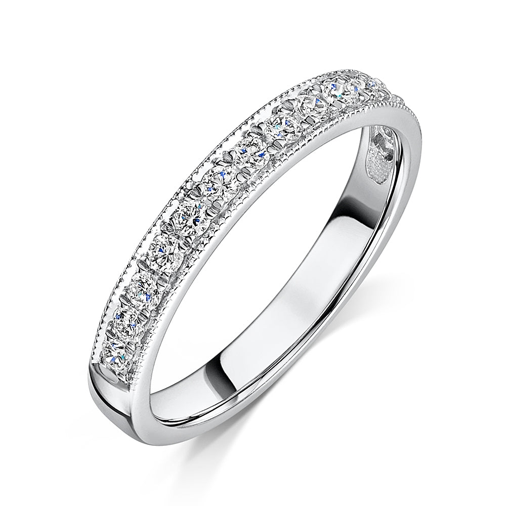 Platinum Grain Set Diamond Eternity Ring 0.33cts