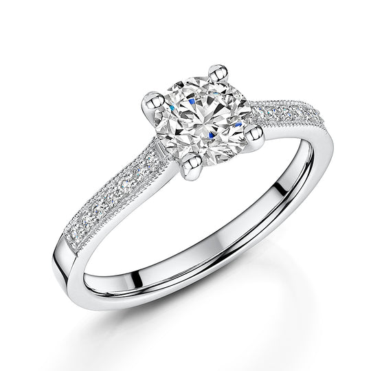 Platinum Diamond Four Claw Solitaire 1.10cts