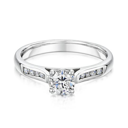 Brilliant Cut Diamond Engagement Ring 0.60cts