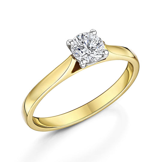 18ct Yellow Gold Diamond solitaire 0.50cts
