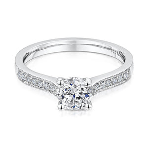 18ct White Gold Diamond Four Claw Solitaire 0.80cts