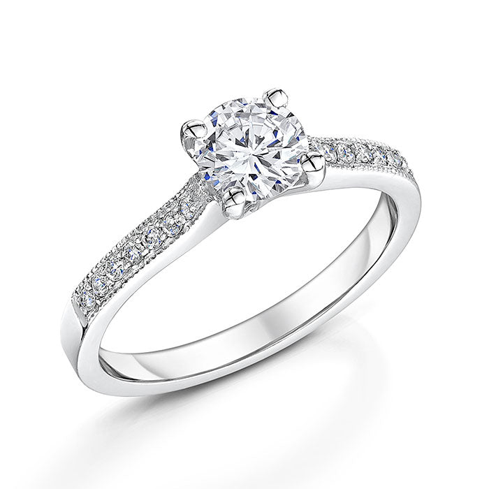 Platinum Diamond Four Claw Solitaire 0.81cts