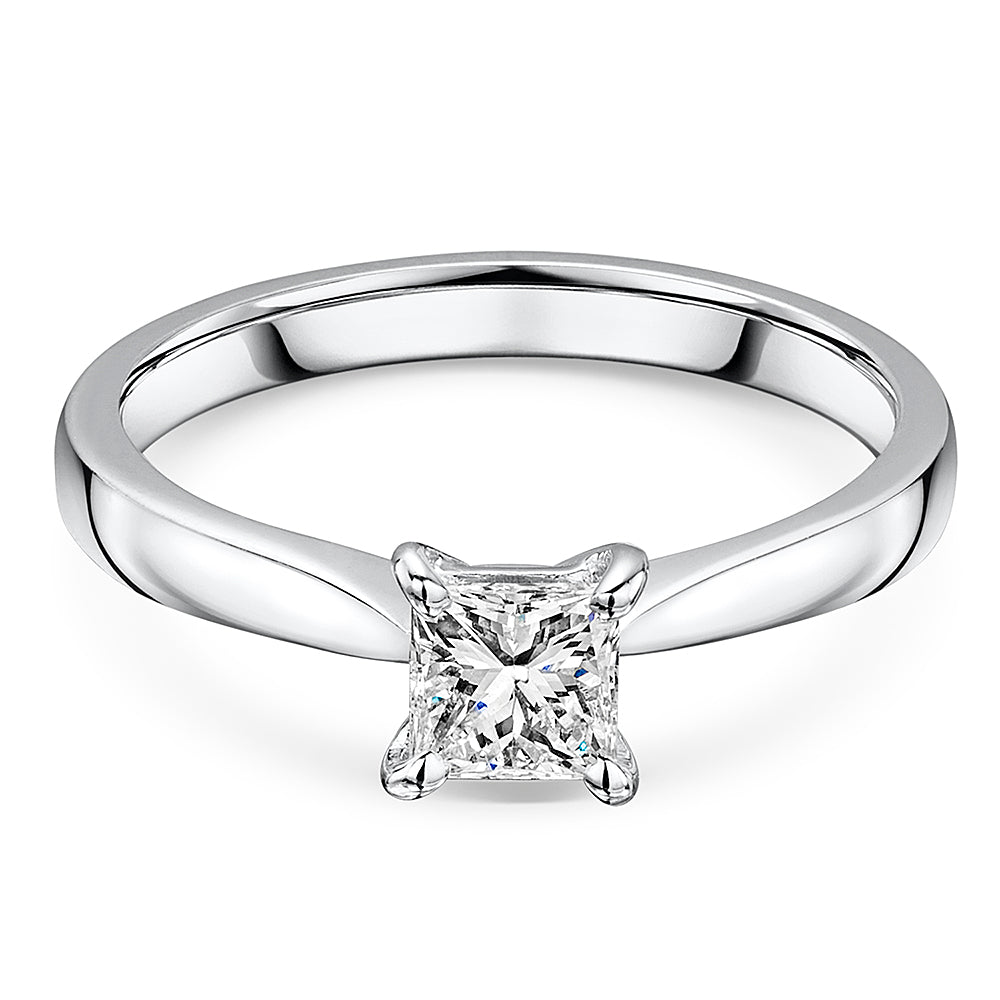 Princess Cut Diamond Solitaire Engagement Ring 0.48cts