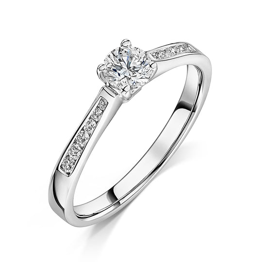 Brilliant Cut Diamond Solitaire Engagement Ring 0.40cts