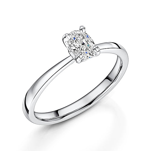 Oval Cut Diamond Solitaire Engagement Ring 0.35cts