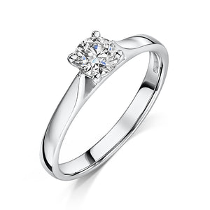 Briliant Cut Diamond Solitaire Engagement Ring 0.41cts