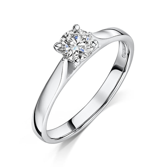 Brilliant Cut Diamond Solitaire Engagement Ring 0.41cts