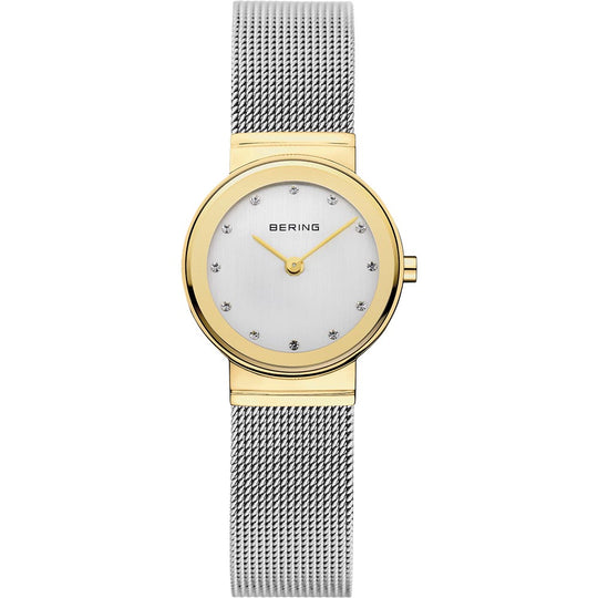 Bering Ladies Stainless Steel Two Tone Crystal Watch