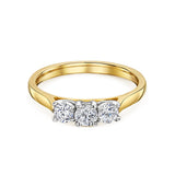 Brilliant Cut Diamond Three Stone Ring 0.60cts