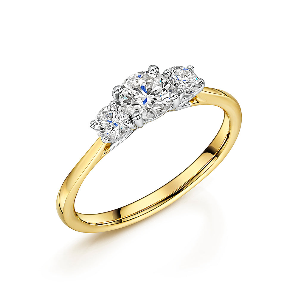 Brilliant Cut Diamond Three Stone Ring 0.80cts