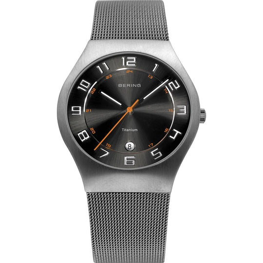 Bering Gents Brushed Grey Watch