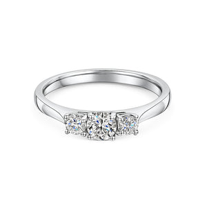 Graduated Diamond Three Stone Ring 0.50cts