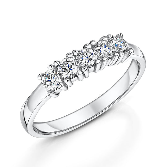 Diamond 5 Stone Eternity Ring 0.33cts