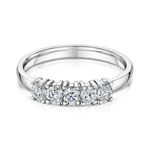 Diamond 5 Stone Eternity Ring 0.50cts