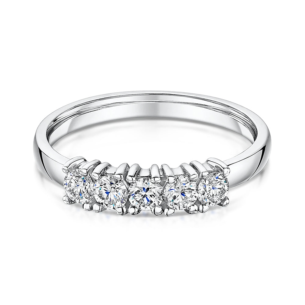 Diamond 5 Stone Eternity Ring 0.24cts