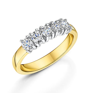 Diamond 5 Stone Eternity Ring 0.55cts