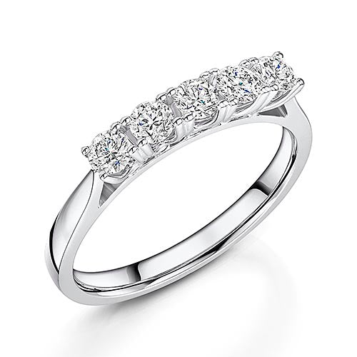 18ct White Gold Brilliant Cut Diamond Eternity Ring 0.55cts