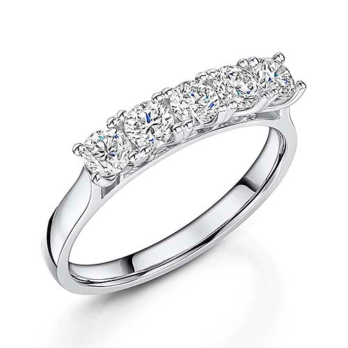 Platinum Brilliant Cut Diamond Eternity Ring 0.80cts