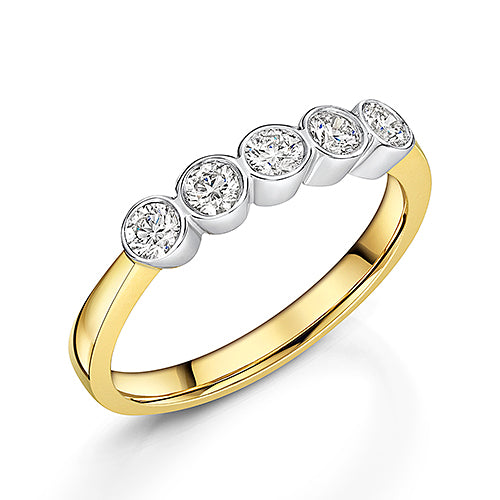 Brilliant Cut Rub Over Diamond Eternity Ring 0.40cts