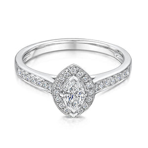 Marquise diamond halo style diamond ring 0.67cts