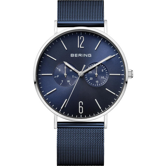 Bering Gents Stainless Steel Blue Watch
