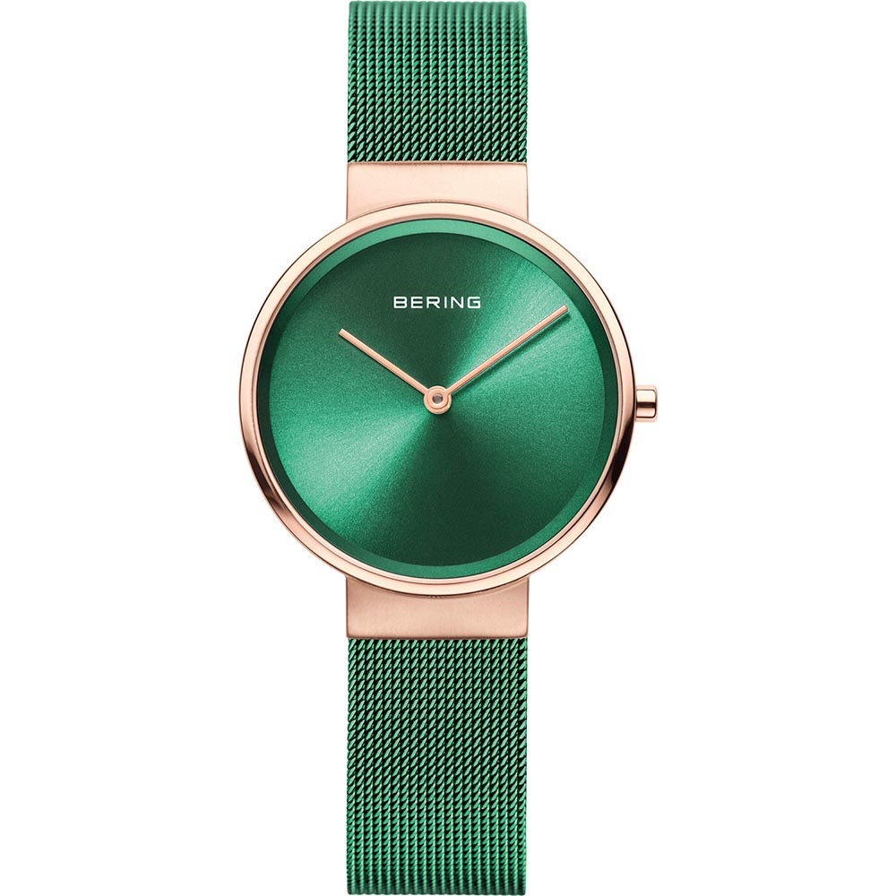 Bering Ladies Stainless Steel Green Watch
