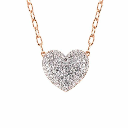 Nomination Easychic Silver & cz Heart Necklace