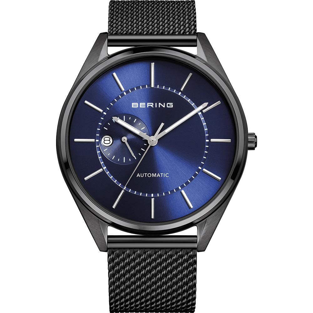 Bering Gents Polished Blue Automatic Watch