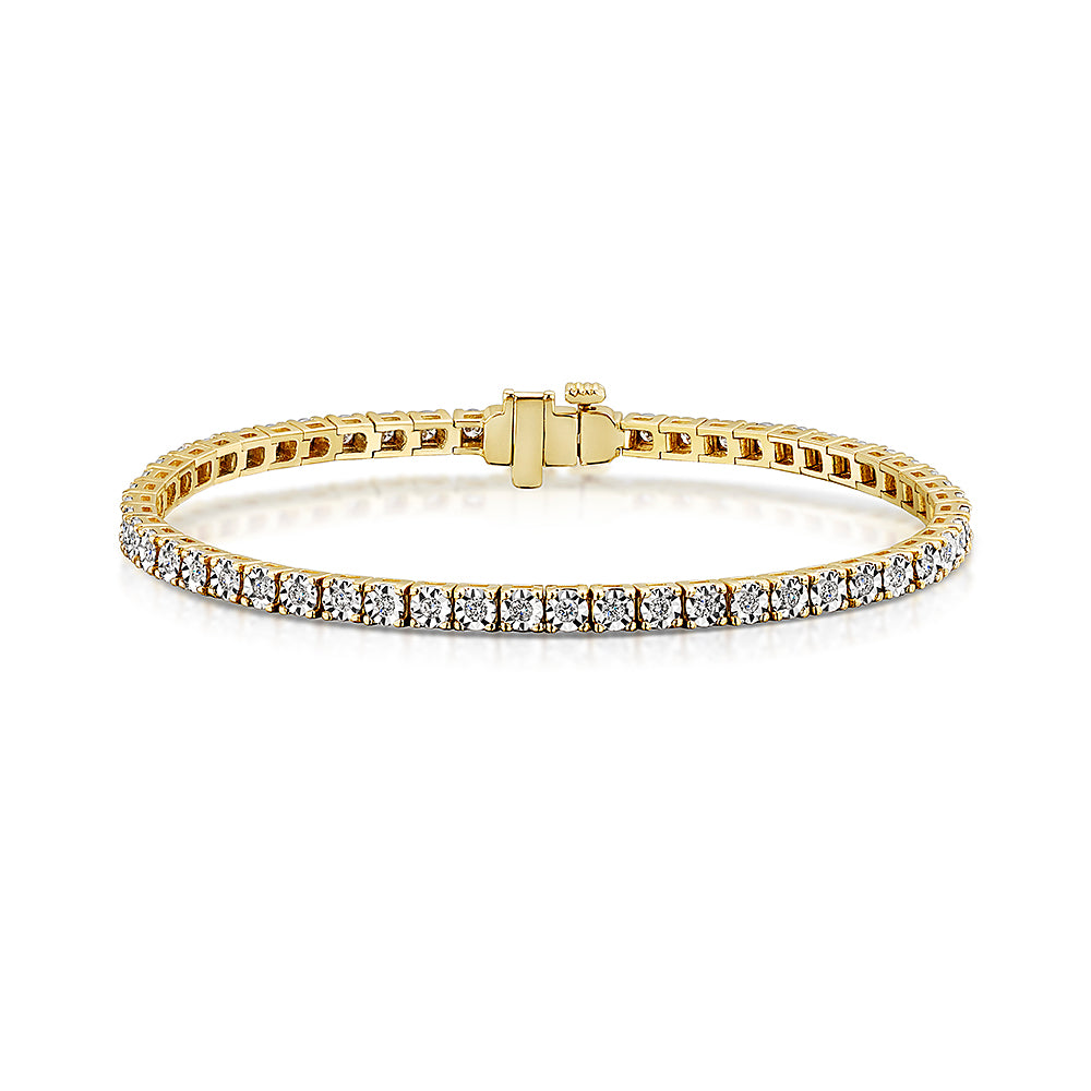 Yellow Gold Diamond Bracelet 1.00cts