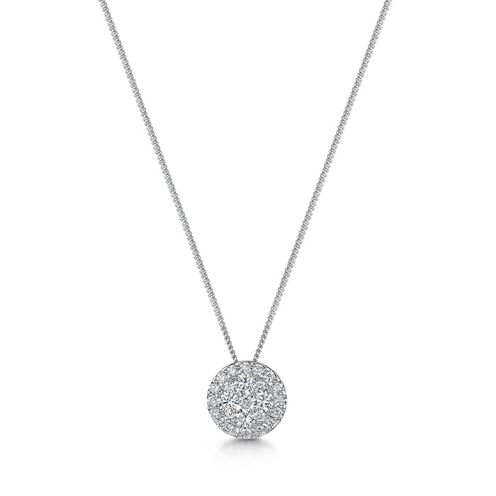 0.33ct Diamond pendant and chain