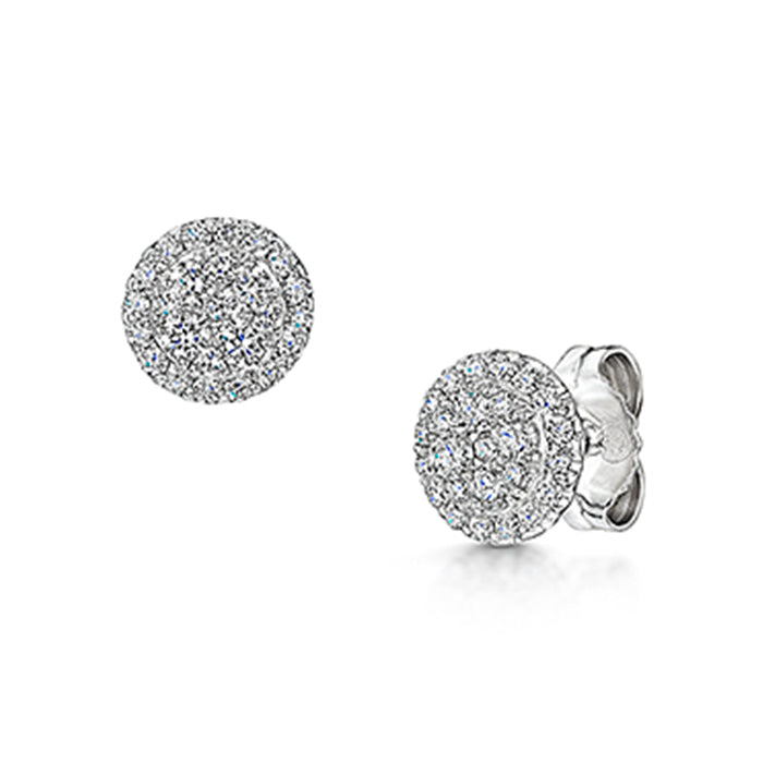 0.33ct brilliant cut cluster earrings