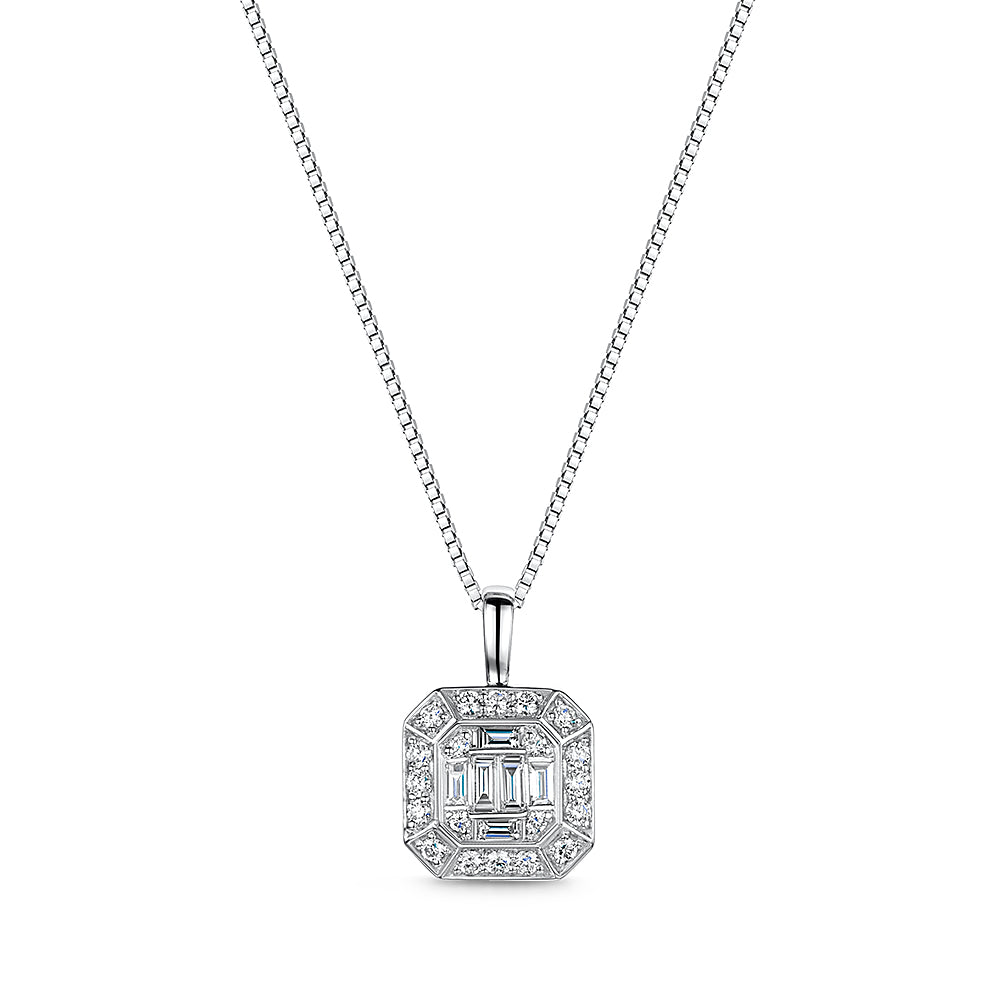 0.37ct diamond pendant and chain