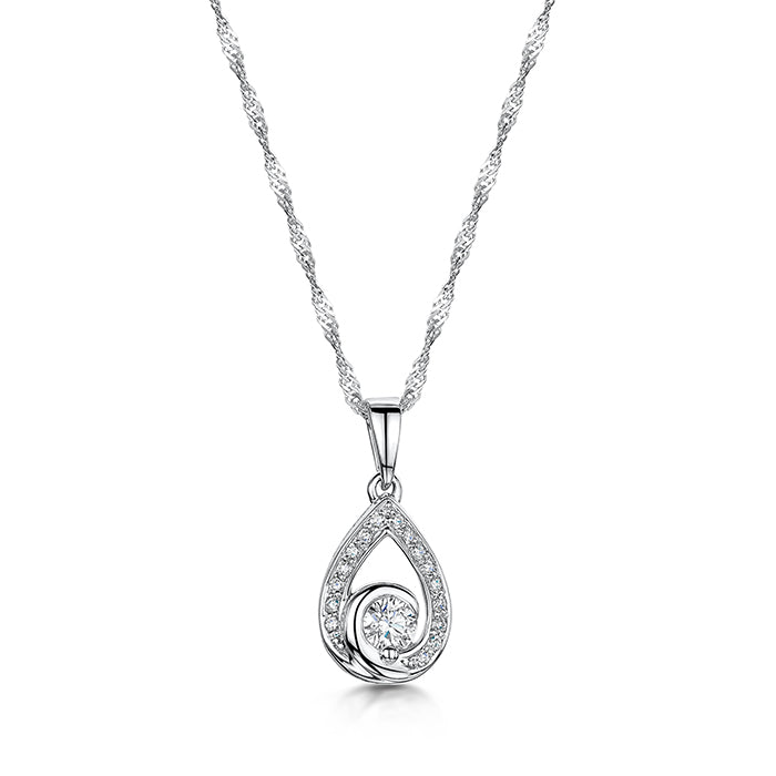 Elegant diamond pendant and chain
