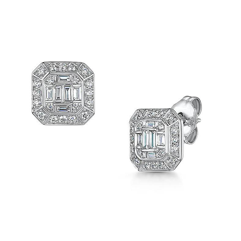 9ct white gold 0.50ct diamond earrings
