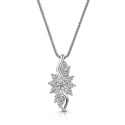 Fancy Style Diamond Pendant 0.50cts