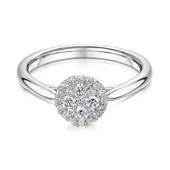 Brilliant Cut Diamond Engagement Ring 0.33cts