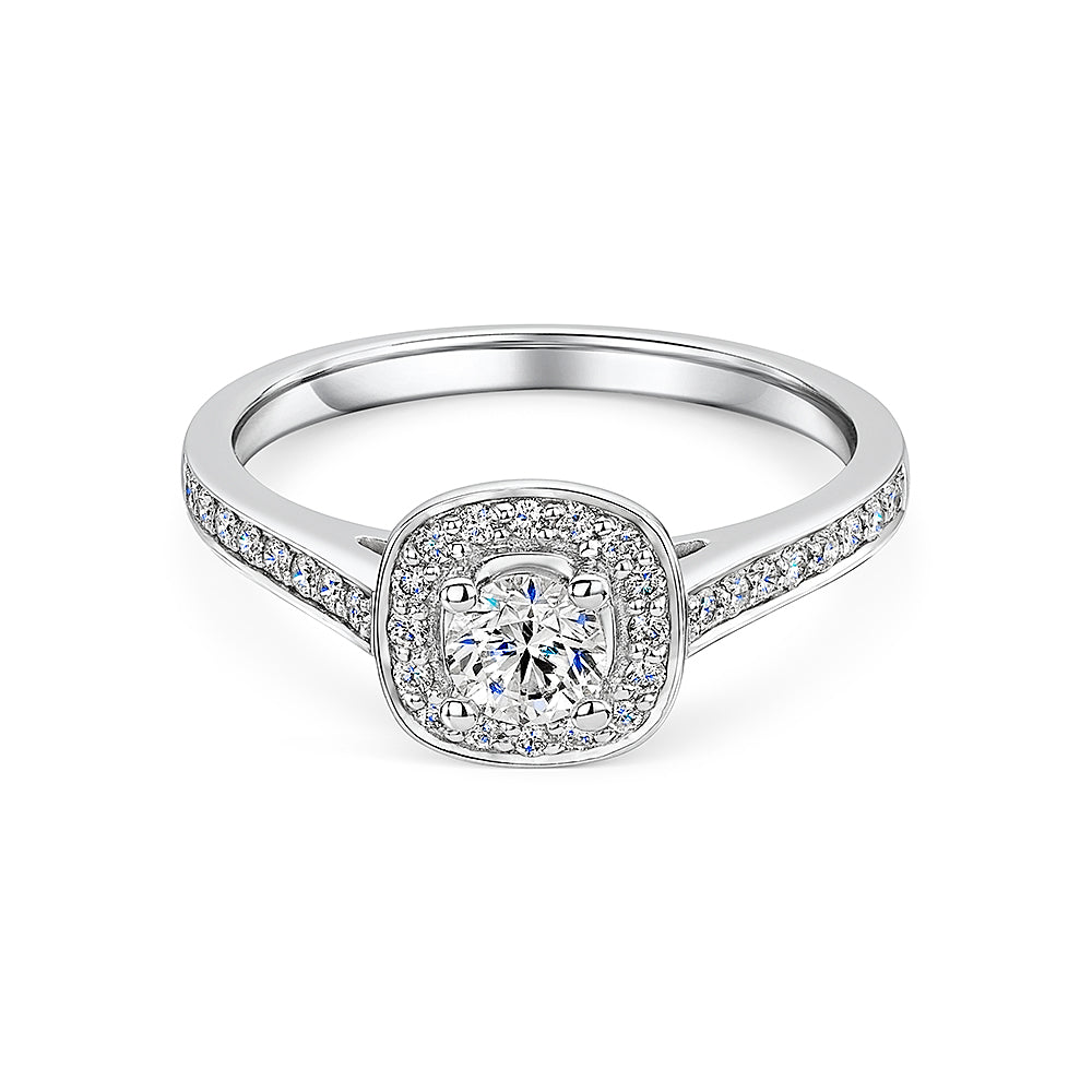Perfect Fit Diamond Halo Style Ring 0.50cts
