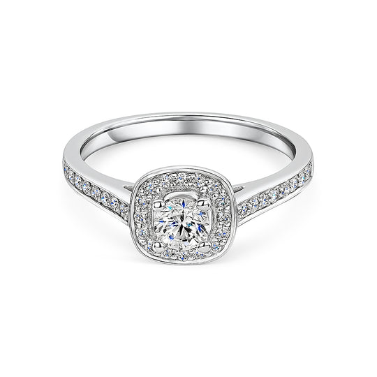 Diamond Rub over Halo Style Ring 0.50cts