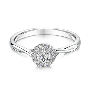 White Gold Twist Style Diamond Ring