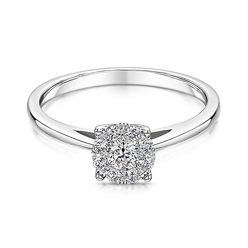 White Gold Twist Style Diamond Ring 0.28cts
