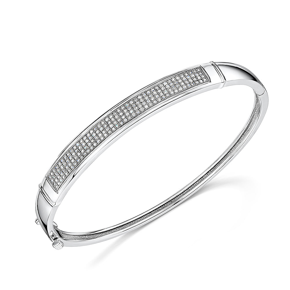 White Gold Diamond Bangle 0.60cts