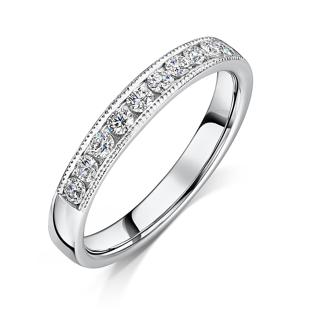 Platinum channel Set Diamond Eternity Ring 0.30cts
