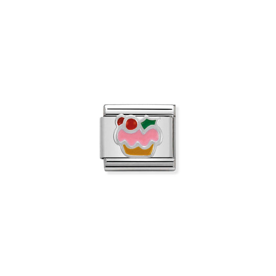 Nomination Christmas Cupcake Charm