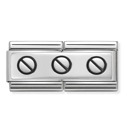 Double Link Stainless Steel Charm