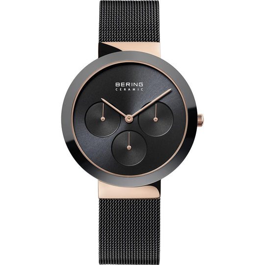 Bering Gents Polished Black Ceramic Watch