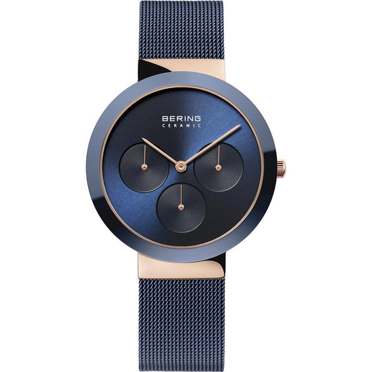 Bering Gents Polished Blue Ceramic Watch