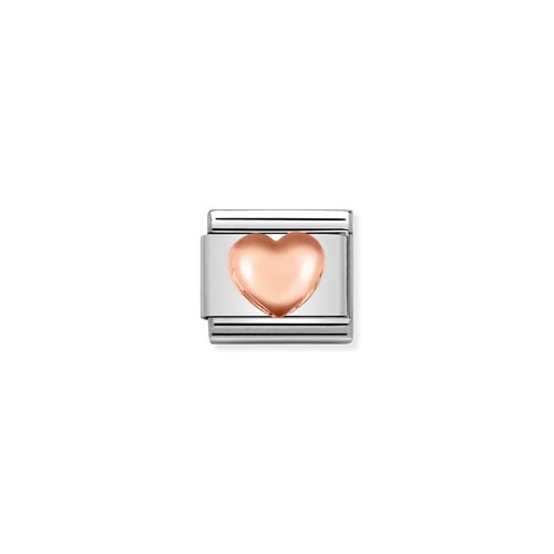 Nomination Raised Heart Charm