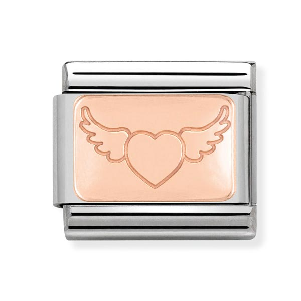 Nomination Heart & Angel Wings Charm