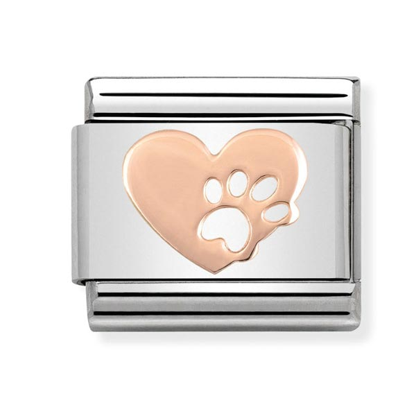 Nomination Heart & Paw Charm